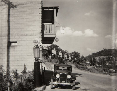 Walker Evans, 'Company Houses and Filling Station on Scotts Run, Vicinity of Morgantown, West Virginia', 1935