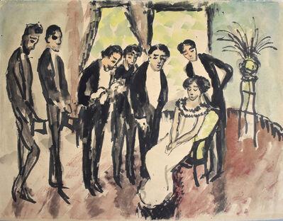 August Macke, 'Comedy Scene   Lustspielszene', 1911