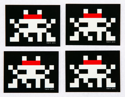 Invader, 'Group of Four Glow in the Dark Stickers', 2014