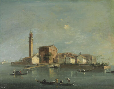 Giacomo Guardi, 'A view of the Island of San Giorgio in Alga, Venice'