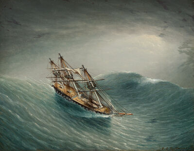 James E. Buttersworth, 'Schooner in a Stormy Sea', Date Unknown