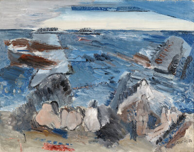 John Marin (1870-1953), 'Bathers', 1932
