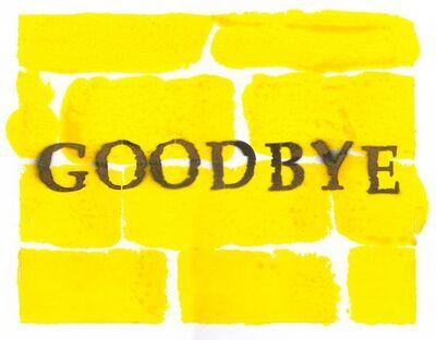 Bernie Taupin, 'Goodbye', 2018