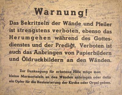 Gerhard Rühm, 'Adaption (Warning!)', 1959