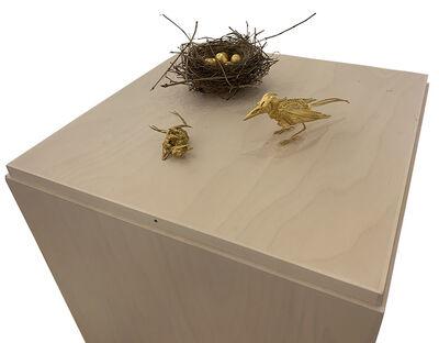 Noel Grunwaldt, 'Two Gold Birds with Nest', 2016