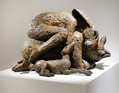 Sophie Ryder, 'Hugging on Top with Dogs', 2016