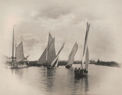 Peter Henry Emerson, 'Sailing Match at Horning', Neg. date: 1885 c. / Print date: 1885 c.