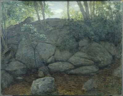 Julian Alden Weir, 'Woodland Rocks', 1910-1919