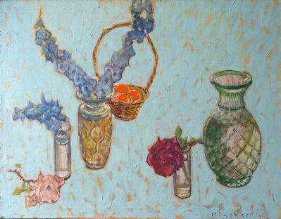 Joseph Plaskett, 'Blue Delphinium, Pink Rose, Red Rose'
