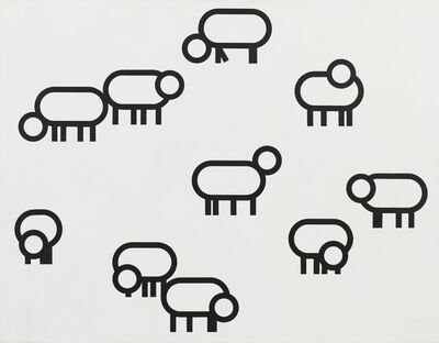 Bart Stolle, 'Sheep (dedicated to Mark Insingel)', 2010