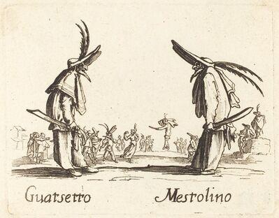 after Jacques Callot, 'Guatsetto and Mestolino'