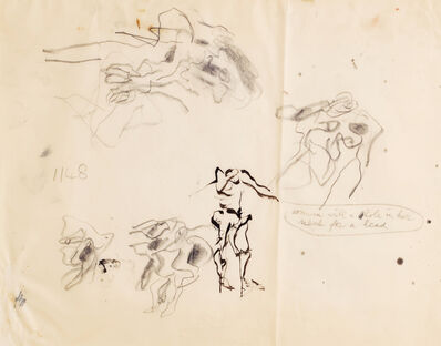 Willem de Kooning, 'Untitled (Woman with a Hole in Her Neck for Her Head)', 1970