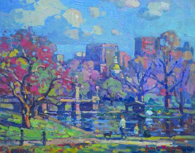 John C. Traynor, 'Spring Day, Public Garden', 2019
