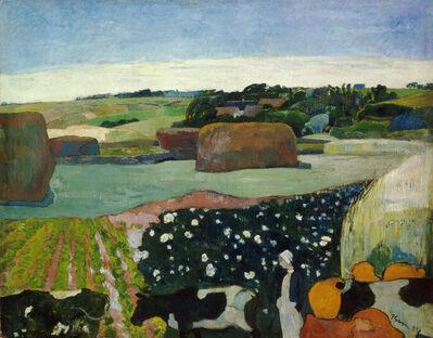 Paul Gauguin, 'Haystacks in Brittany', 1890