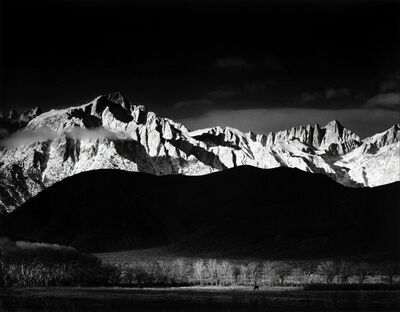 Ansel Adams, 'Winter Sunrise, The Sierra Nevada, From Lone Pine, California', 1944 (Printed 1980)