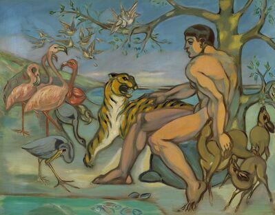 Axel Salto, 'Adam navngiver dyrene (Adam names the animals)', 1928