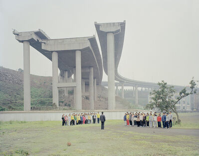 Zhang Kechun, 'Under the bridge undone 断桥下上体育课的人', 2014
