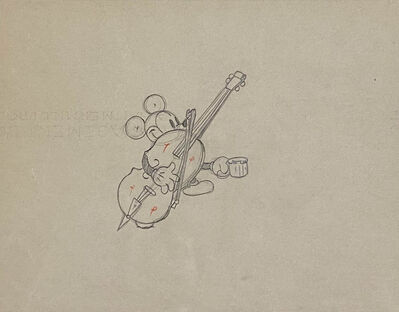 Walt Disney Studios, 'Walt Disney Production Drawing of Mickey Mouse from Mickey's Good Deed (1932)', 1932