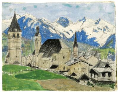Alfons Walde, 'Kitzbühel in the Spring', 1922