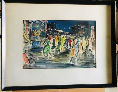 Sacha Chimkevitch, 'Untitled, Evening Street Dancing', ca. 1950