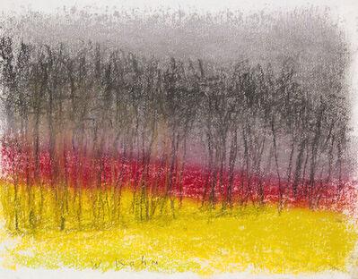 Wolf Kahn, 'DARK RED HORIZON II', 2016