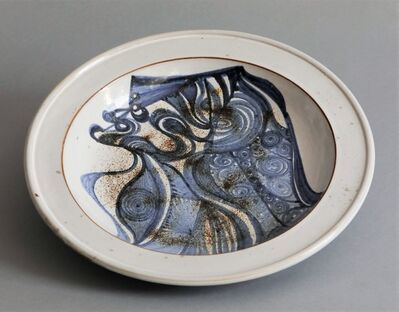Jacques Pouchain (1925-2015), 'Abstract Plate', ca. 1960