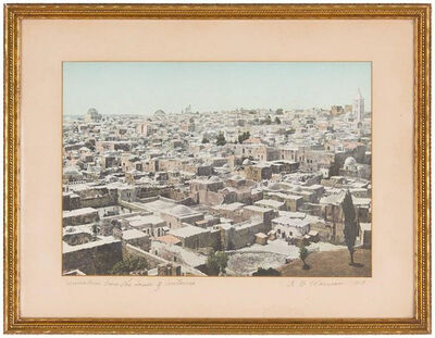A.B. Warman, 'JERUSALEM FROM THE TOWER OF ANTONIA, Warman Vintage Photograph, 1913', Early 20th Century