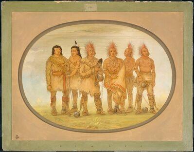 George Catlin, 'Black Hawk and Five Other Saukie Prisoners', 1861/1869