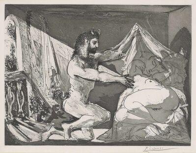 Pablo Picasso, 'Faune devoilant une femme, from: La Suite Vollard', 1936