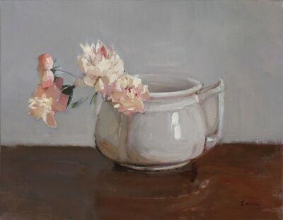 Maryann Lucas, 'Pink Peonies in Grey Pot', 2015