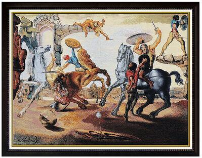 Salvador Dalí, 'Salvador Dali Large Jacquard Woven Tapestry Signed Battle Around Dandelion Art', 1988