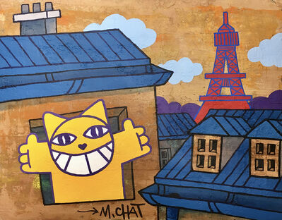 M. Chat, 'L'aube sur Paris', 2021