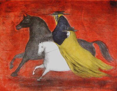 Leonora Carrington, 'Jinetes', 1977
