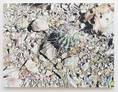 Eric LoPresti, 'Spiky cactus with colored tapes', 2017