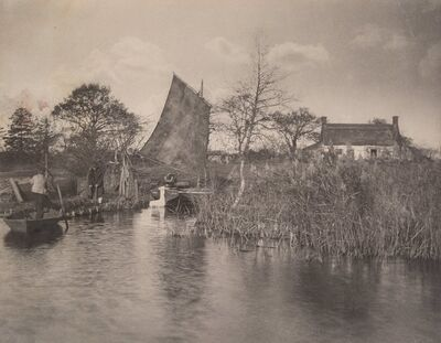 Peter Henry Emerson, 'A Broadman's Cottage', 1886