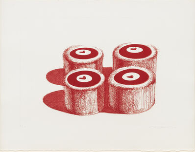 Wayne Thiebaud, 'Cherry Cakes', 1979