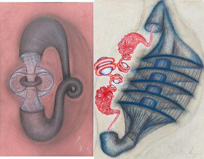 John Newman (b.1952), 'Untitled, 1996 and Untitled, 1990'