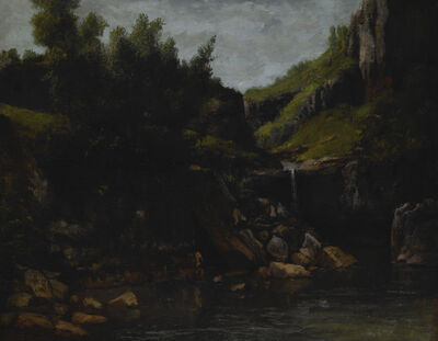 Gustave Courbet, 'Cascade in a Rocky Landscape ', ca. 1872-1874