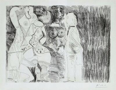 Pablo Picasso, 'Degas imaginant, scène de séduction entre deux filles, avec Matrone hypocrite', 1971