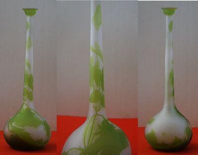 Emile Gallé, 'Glass paste vase with bindweed decoration', XXth century