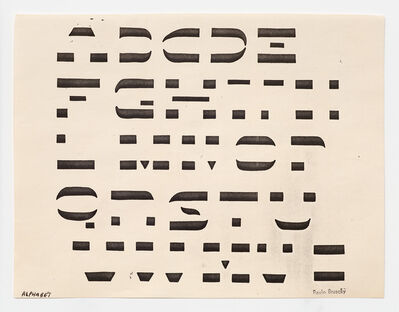 Paulo Bruscky, 'Alphabet', 1984