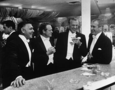 Slim Aarons, 'Kings of Hollywood: Clark Gable, Van Heflin, Gary Cooper, and James Stewart at Romanoff's in Beverly Hills, California', 1957