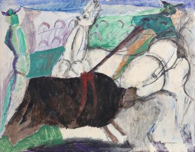 Bruno Cassinari, 'Bull Fighting Arena', ca. 1955