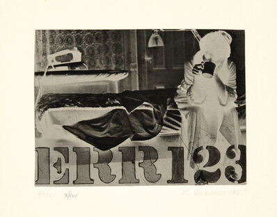 Robert Indiana, 'Err, from International Anthology of Contemporary Engraving: The International Avant-Garde: America Discovered, Volume 5', 1963
