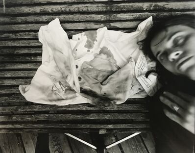 Sally Mann, 'Self Portrait with Emmett's Hospital Pillowcase', 1987