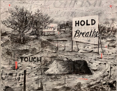 William Kentridge, 'Hold Breathe Touch (Drawing from A Natural History of the Studio)', 2020