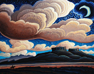 "Kim Wiggins, '""A Starry Night on Red Rock Ranch""', 2017"