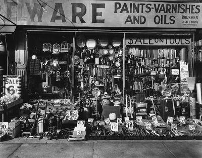 Berenice Abbott, 'Hardware Store, 316-318 Bowery, New York City.', 1980s