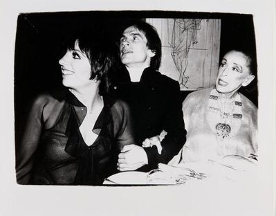 Andy Warhol, 'Andy Warhol, Photograph of Liza Minnelli, Rudolf Nureyev and Martha Graham, 1980', 1980