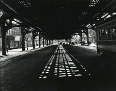 "Weegee, 'Under the 3rd Avenue ""L""', ca. 1940"